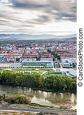 Aerial view of Logrono