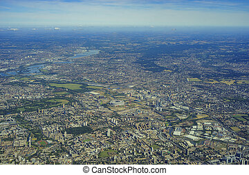 Aerial view of London - Aerial view of Beckton, Creekmouth, ...