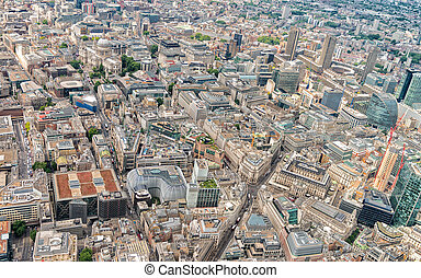 Aerial view of London from helicopter