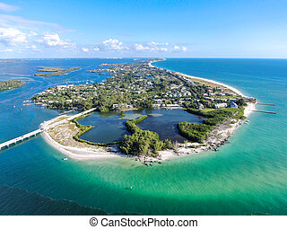 Aerial view of Longboat Key, Florida