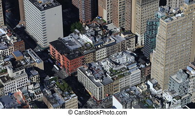 Aerial view of Lower Manhattan - An aerial view of Lower...