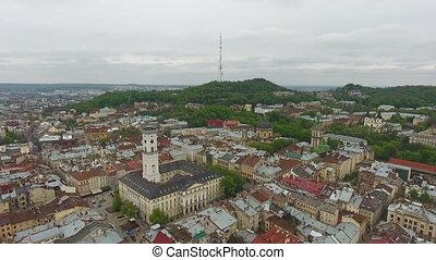 Aerial View of Lviv City
