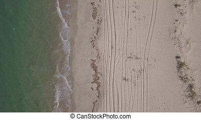 Aerial view of Macaneta Beach between Indian Ocean and ...