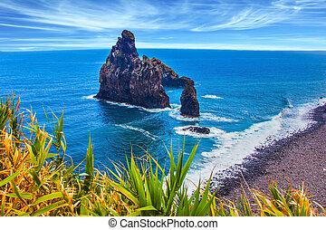 Aerial view of Madeira Island