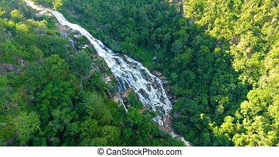 Aerial view of Maeya Waterfall, Thailand