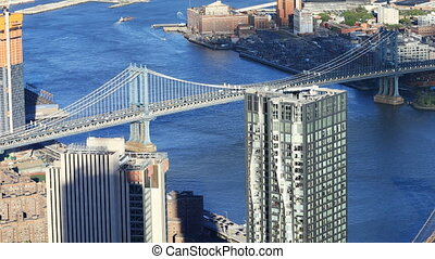 Aerial view of Manhattan Bridge