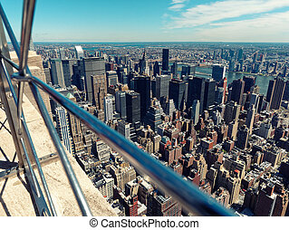 Aerial view of Manhattan Midtown USA New York City