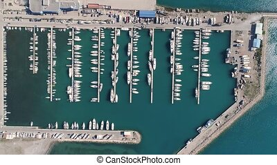 Aerial view of marina in Bar