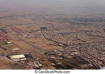 Aerial view of Marrakesh