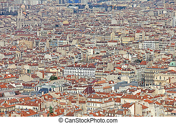 Aerial view of Marseilles, France