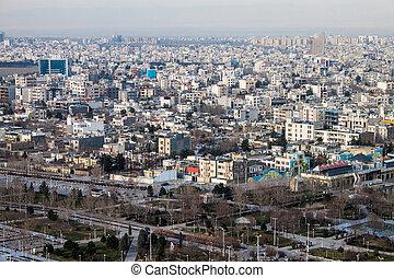 Aerial view of Mashhad, Iran