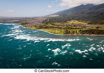 Aerial view of Maui coast