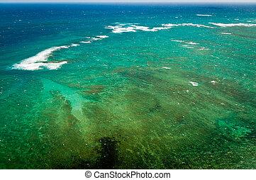 Aerial view of Maui shores