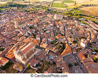 Aerial view of Medina de Rioseco