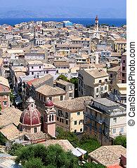 Aerial view of Mediterranean city