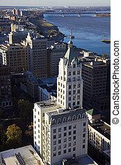 Aerial view of Memphis