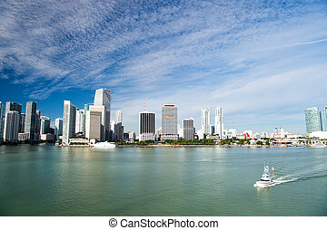 Aerial view of Miami skycrapers - Aerial view of Miami ...