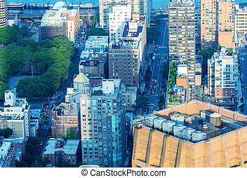 Aerial view of Midtown Manhattan - New York City