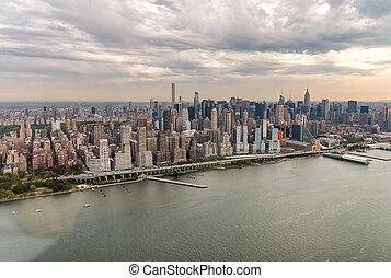Aerial view of Midtown Manhattan, New York City