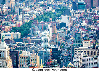 Aerial view of Midtown Manhattan - New York City