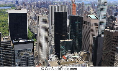 Aerial view of Midtown Manhattan skyline - An aerial view of...