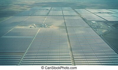 Aerial view of modern solar power station in Andalusia, Spain