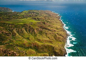 Molokai island coastline