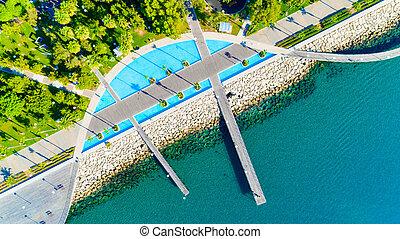 Aerial view of Molos, Limassol, Cyprus