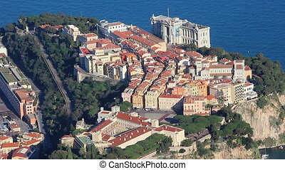 Aerial View of Monaco-Ville - Time