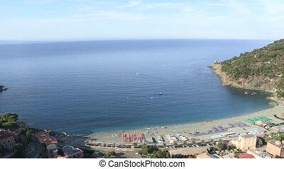 Aerial view of Moneglia