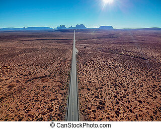 Aerial view of Monument Valley, Arizona, USA
