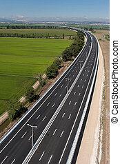Aerial view of motorway