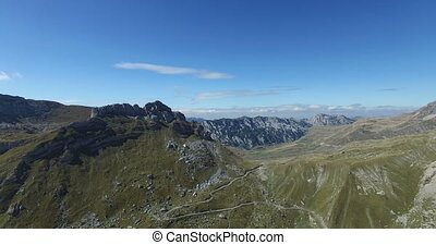 Aerial view of Mountains of Montenegro - Aerial view of...