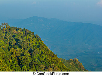 aerial view of moutain in northen thailand