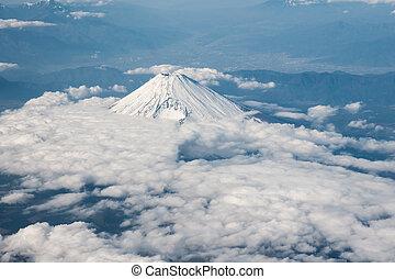 Aerial View of Mt. Fuji