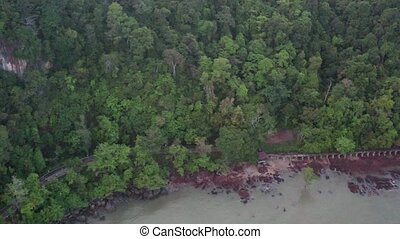 Aerial view of Mu Ko Phetra National Park in Thailand -...