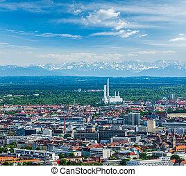 Aerial view of Munich. Munich, Bavaria, Germany - Aerial...