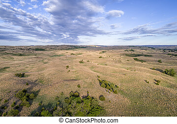 aerial view of Nebraska Sandhills