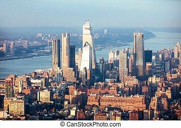 Aerial View Of New York City Skyline