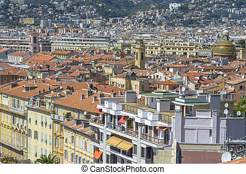 Aerial view of Nice