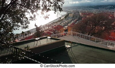 Aerial View of Nice And The Promenade des Anglais in France