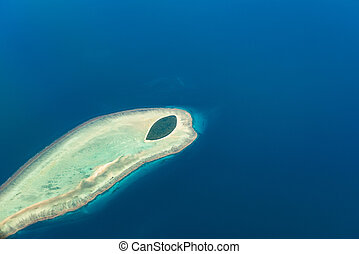 Aerial view of North West Island, Capricornia Cays National Park