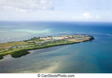 Aerial view of Northeast Puerto Rico - Aerial view of the ...