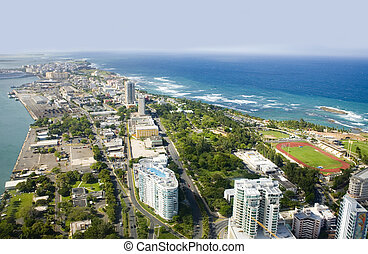 Aerial view of Northeast Puerto Rico - Aerial view of the...