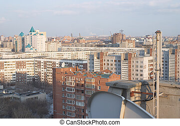 Aerial view of Novosibirsk