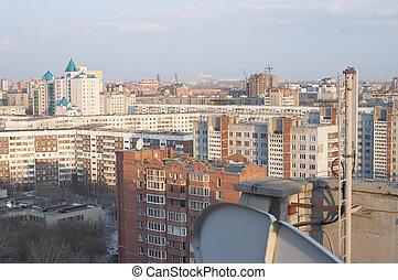 Aerial view of Novosibirsk