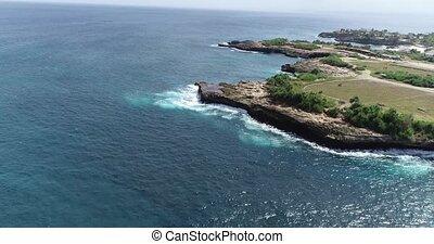Aerial view of Nusa Lembongan, Bali