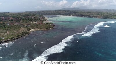 Aerial view of Nusa Lembongan, Bali - Aerial drone view...