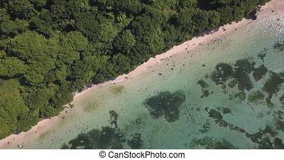 Aerial view of Nyang Nyang beach, Bali, Indonesia