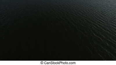 Aerial view of ocean lake waves, nature. 4K, backgrounds